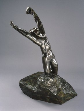 Auguste Rodin (French, 1840-1917). <em>The Prodigal Son, Large Model (L'Enfant prodigue, grand modèle)</em>, late 1880s, cast 1969. Bronze, 54 3/8 x 35 1/2 x 28 3/4 in., 218 lb. (138.1 x 90.2 x 73 cm). Brooklyn Museum, Gift of the Iris and B. Gerald Cantor Foundation, 84.75.4. Creative Commons-BY (Photo: Brooklyn Museum, 84.75.4_SL1.jpg)