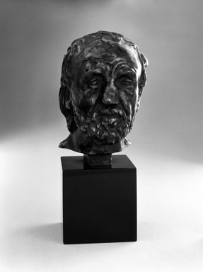 Auguste Rodin (French, 1840-1917). <em>Man with the Broken Nose, Reduction (L'homme au nez cassé, réduction)</em>, ca. 1863, reduction ca. 1900; cast 1970. Bronze, 3 3/4 × 2 1/2 × 2 3/4 in., 1 lb. (9.5 × 6.4 × 7 cm, 0.45kg). Brooklyn Museum, Gift of the Iris and B. Gerald Cantor Foundation, 84.75.8. Creative Commons-BY (Photo: Brooklyn Museum, 84.75.8_bw.jpg)