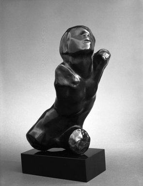 Auguste Rodin (French, 1840-1917). <em>Ugolino, Torso of a Child (Ugolin, Torse d'un enfant)</em>, model date unknown; cast 1980. Bronze, 9 1/2 x 6 7/8 x 5 1/2 in.  (24.1 x 17.5 x 14.0 cm). Brooklyn Museum, Gift of B. Gerald Cantor Collection, 84.76. Creative Commons-BY (Photo: Brooklyn Museum, 84.76_bw.jpg)