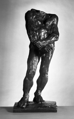Auguste Rodin (French, 1840-1917). <em>Balzac, Second Study for Nude F (Balzac, deuxième étude pour le Nu F)</em>, 1896; cast 1979. Bronze, 37 x 16 x 15 1/2 in.  (94 x 40.6 x 39.4 cm). Brooklyn Museum, Gift of Iris and B. Gerald Cantor, 84.77.10. Creative Commons-BY (Photo: Brooklyn Museum, 84.77.10_bw.jpg)