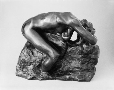Auguste Rodin (French, 1840-1917). <em>Andromeda (Andromède)</em>, 1887; cast 1979. Bronze, 10 1/2 × 12 3/4 × 8 in., 20.5 lb. (26.7 × 32.4 × 20.3 cm). Brooklyn Museum, Gift of Iris and B. Gerald Cantor, 84.77.1. Creative Commons-BY (Photo: Brooklyn Museum, 84.77.1_bw_SL3.jpg)