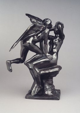 Auguste Rodin (French, 1840-1917). <em>Iris Waking a Nymph (Iris éveillant une nymphe)</em>, ca. 1885, cast 1979. Bronze, 13 5/8 x 8 5/8 x 8 1/2 in. (34.6 x 21.9 x 21.6 cm). Brooklyn Museum, Gift of Iris and B. Gerald Cantor, 84.77.6. Creative Commons-BY (Photo: Brooklyn Museum, 84.77.6_transp6258.jpg)