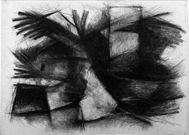 Zigi Ben-Haim (American, born 1945). <em>Green Path, Series #111</em>, 1984. Lead and crayon on paper, 57 x 40 in. (144.8 x 101.6 cm). Brooklyn Museum, Gift of Mr. and Mrs. Richard Jankell, 84.87.2. © artist or artist's estate (Photo: Brooklyn Museum, 84.87.2_bw.jpg)