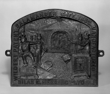 Possibly Silas C. Hering. <em>Safe-Plate</em>, ca. 1843. Cast bronze, Other: 7 1/2 x 9 1/2 x 1 1/8 in. (19.1 x 24.1 x 2.9 cm). Brooklyn Museum, H. Randolph Lever Fund