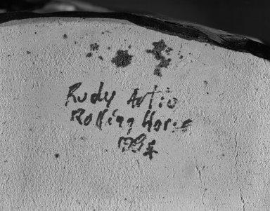 "Rudy Autio (American, 1926-2007). <em>""Rolling Horse"" Vase</em>, ca. 1984. Ceramic, 14 x 19 x 11 in.  (35.6 x 48.3 x 27.9 cm). Brooklyn Museum, Louis Comfort Tiffany Foundation, 85.14.2. Creative Commons-BY (Photo: Brooklyn Museum, 85.14.2_mark_bw.jpg)"