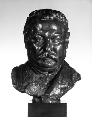 Auguste Rodin (French, 1840-1917). <em>Omer Dewavrin</em>, 1885; cast 1979. Bronze, 9 3/4 x 7 1/2 x 5 7/8 in.  (24.8 x 19.1 x 14.9 cm). Brooklyn Museum, Gift of the Iris and B. Gerald Cantor Foundation, 85.173.1. Creative Commons-BY (Photo: Brooklyn Museum, 85.173.1_bw.jpg)
