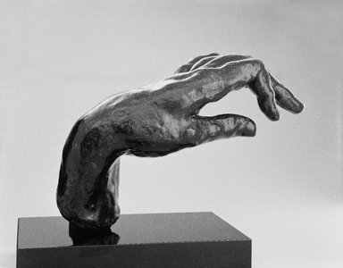 Auguste Rodin (French, 1840-1917). <em>Large Hand of a Pianist (Grande main de pianiste)</em>, n.d.; cast 1965. Bronze, 7 3/8 x 10 1/4 x 5 1/2 in.  (18.7 x 26.0 x 14.0 cm). Brooklyn Museum, Gift of the Iris and B. Gerald Cantor Foundation, 85.173.3. Creative Commons-BY (Photo: Brooklyn Museum, 85.173.3_edited_bw_SL3.jpg)