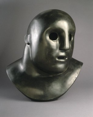 Tom Otterness (American, born 1952). <em>Head</em>, 1984. Bronze, 35 1/2 x 33 x 25 in. (90.17 x 83.82 x 63.50 cm). Brooklyn Museum, Gift of Henry and Cheryl Welt, 85.176. © artist or artist's estate (Photo: Brooklyn Museum, 85.176_SL1.jpg)