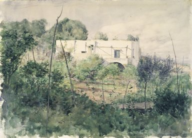 Louis Ritter (American, 1854-1892). <em>Capri</em>, 1889. Watercolor with graphite pencil on paper, 10 5/8 x 14 5/8 in. (27 x 37.1 cm). Brooklyn Museum, Purchased with funds given by Mr. and Mrs. Leonard L. Milberg, 85.177 (Photo: Brooklyn Museum, 85.177.jpg)