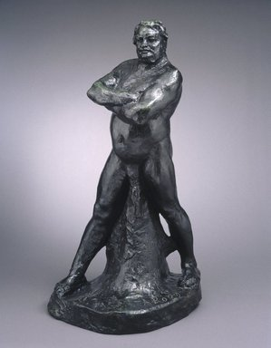 Auguste Rodin (French, 1840-1917). <em>Balzac, Nude Study C, Large Version (Balzac, étude de nu, grand modèle)</em>, 1892-1893; cast 1972. Bronze, 49 7/8 x 19 1/4 x 26 1/2 in., 148 lb. (126.7 x 48.9 x 67.3 cm). Brooklyn Museum, Gift of the Iris and B. Gerald Cantor Foundation, 85.198. Creative Commons-BY (Photo: Brooklyn Museum, 85.198_SL1.jpg)