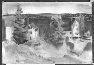 William Zorach (American, born Lithuania, 1887-1966). <em>Lake View</em>, 1926. Watercolor, 14 5/8 x 21 5/8 in. (37.1 x 54.9 cm). Brooklyn Museum, Gift of Basil Shanahan, 85.21.5. © artist or artist's estate (Photo: Brooklyn Museum, 85.21.5_bw.jpg)