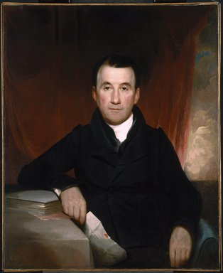 Samuel Finley Breese Morse (American, 1791-1872). <em>Jonas Platt</em>, 1828. Oil on canvas, 35 15/16 x 29 7/16 in. (91.3 x 74.8 cm). Brooklyn Museum, Dick S. Ramsay Fund, 85.23 (Photo: Brooklyn Museum, 85.23_SL1.jpg)