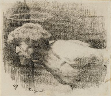 "Charles Sprague Pearce (American, 1851-1914). <em>Study for ""The Beheading of St. John the Baptist,""</em> ca. 1881. Crayon on paper, sheet: 6 1/8 x 7 in. (15.6 x 17.8 cm). Brooklyn Museum, Gift of Sidney M. Katz, 85.243.2 (Photo: Brooklyn Museum, 85.243.2_PS4.jpg)"