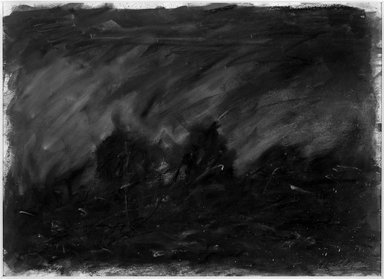 Kevin Moss (American, born 1957). <em>Untitled</em>, 1984. Pastel on paper, framed: 20 3/4 x 26 in. (52.7 x 66 cm). Brooklyn Museum, Gift of Xavier Fourcade, Inc., 85.24. © artist or artist's estate (Photo: Brooklyn Museum, 85.24_bw.jpg)