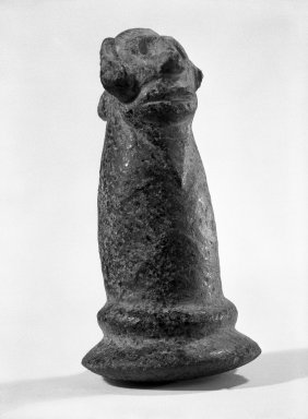 Taino. <em>Carved Pestle</em>, probably 20th century. Stone, 6 1/2 x 3 1/2 x 4 in. (16.5 x 8.9 x 10.2 cm). Brooklyn Museum, Gift of Mr. and Mrs. Vincent Fay, 85.261.1. Creative Commons-BY (Photo: Brooklyn Museum, 85.261.1_bw.jpg)