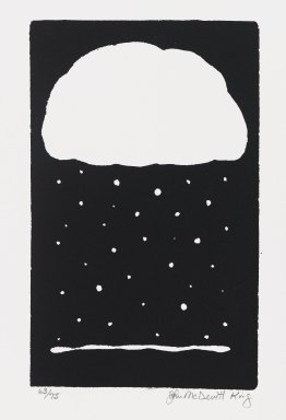 John McDevitt King (American, born 1954). <em>Season</em>, 1984. Screenprint, Sheet: 11 3/4 x 9 in. (29.9 x 22.8 cm). Brooklyn Museum, Gift of Strother Ellwood Editions and the artist, 85.26. © artist or artist's estate (Photo: Brooklyn Museum, 85.26_PS4.jpg)