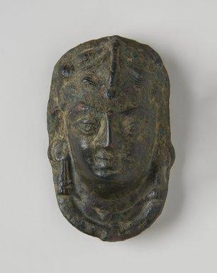 <em>Plaque</em>, ca. 4th century. Bronze, 3 1/8 x 2 1/4 in. (7.9 x 5.7 cm). Brooklyn Museum, Gift of Dr. Bertram H. Schaffner, 85.283.3. Creative Commons-BY (Photo: Brooklyn Museum, 85.283.3_PS11.jpg)
