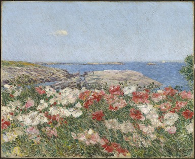 Frederick Childe Hassam (American, 1859-1935). <em>Poppies on the Isles of Shoals</em>, 1890. Oil on canvas, frame: 25 3/4 x 29 5/8 x 4 in. (65.4 x 75.2 x 10.2 cm). Brooklyn Museum, Gift of Mary Pratt Barringer and Richardson Pratt, Jr. in memory of Richardson and Laura Pratt, 85.286 (Photo: , 85.286_PS9.jpg)