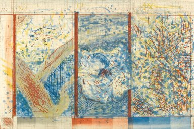 Pat Steir (American, born 1940). <em>The Tree After Hiroshige</em>, 1984. Etching on paper, sheet: 32 1/4 x 43 1/8 in. (81.9 x 109.5 cm). Brooklyn Museum, Purchased with funds given by the Louis Comfort Tiffany Foundation, 85.33. © artist or artist's estate (Photo: Brooklyn Museum, 85.33_PS2.jpg)