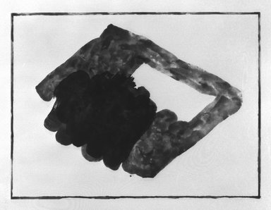 Richard Tuttle (American, born 1941). <em>Suite II</em>, 1983. Spit bite and sugar lift on paper, 42 x 29 1/2 in. (106.7 x 74.9 cm). Brooklyn Museum, Purchased with funds given by the Louis Comfort Tiffany Foundation, 85.43.1. © artist or artist's estate (Photo: Brooklyn Museum, 85.43.1_bw.jpg)