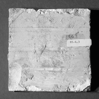 International Tile Company. <em>Tile</em>, 1882-1888. Earthenware, 1/2 x 4 1/2 x 4 1/2 in. (1.3 x 11.4 x 11.4 cm). Brooklyn Museum, Gift of Florence I. Barnes, 85.6.3. Creative Commons-BY (Photo: Brooklyn Museum, 85.6.3_bottom_bw.jpg)