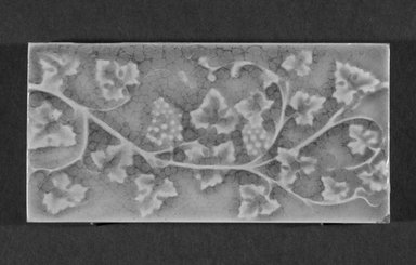 International Tile Company. <em>Tile</em>, 1882-1888. Earthenware, 1/2 x 6 x 3 in. (1.3 x 15.2 x 7.6 cm). Brooklyn Museum, Gift of Florence I. Barnes, 85.6.7. Creative Commons-BY (Photo: Brooklyn Museum, 85.6.7_bw.jpg)