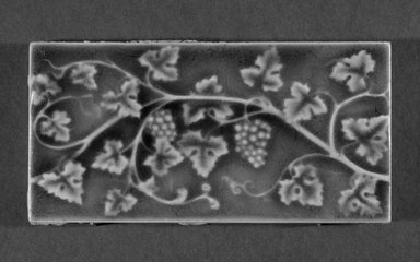International Tile Company. <em>Tile</em>, 1882-1885. Earthenware, 1/2 x 6 x 3 in. (1.3 x 15.2 x 7.6 cm). Brooklyn Museum, Gift of Florence I. Barnes, 85.6.8. Creative Commons-BY (Photo: Brooklyn Museum, 85.6.8_bw.jpg)
