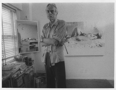 Lenore Seroka (American, born 1935). <em>Balcombe Greene</em>, 1981. Gelatin silver photograph, sheet: 11 x 14 in. (27.8 x 35.5 cm). Brooklyn Museum, Gift of the artist, 85.63.12. © artist or artist's estate (Photo: Brooklyn Museum, 85.63.12_PS9.jpg)