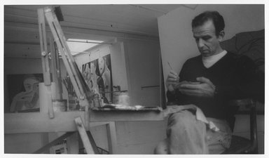 Lenore Seroka (American, born 1935). <em>Alex Katz</em>, 1977. Gelatin silver photograph, sheet: 11 x 14 in. (27.8 x 35.5 cm). Brooklyn Museum, Gift of the artist, 85.63.13. © artist or artist's estate (Photo: Brooklyn Museum, 85.63.13_PS9.jpg)
