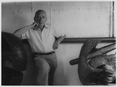 Lenore Seroka (American, born 1935). <em>Seymour Lipton</em>, 1981. Gelatin silver photograph, sheet: 11 x 14 in. (27.8 x 34 cm). Brooklyn Museum, Gift of the artist, 85.63.16. © artist or artist's estate (Photo: Brooklyn Museum, 85.63.16_PS9.jpg)