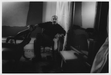 Lenore Seroka (American, born 1935). <em>Theodoros Stamos</em>, 1979. Gelatin silver photograph, sheet: 11 x 14 in. (27.8 x 35.5 cm). Brooklyn Museum, Gift of the artist, 85.63.18. © artist or artist's estate (Photo: Brooklyn Museum, 85.63.18_PS9.jpg)