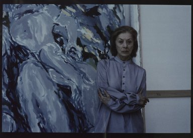 Lenore Seroka (American, born 1935). <em>Elaine de Kooning</em>, 1983. Cibachrome print, sheet: 11 x 14 in. (27.8 x 35.5 cm). Brooklyn Museum, Gift of the artist, 85.63.19. © artist or artist's estate (Photo: Brooklyn Museum, 85.63.19_PS9.jpg)