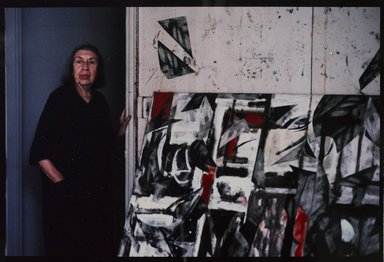Lenore Seroka (American, born 1935). <em>Lee Krasner</em>, 1983. Cibachrome print, sheet: 11 x 14 in. (27.8 x 35.5 cm). Brooklyn Museum, Gift of the artist, 85.63.20. © artist or artist's estate (Photo: Brooklyn Museum, 85.63.20_PS9.jpg)