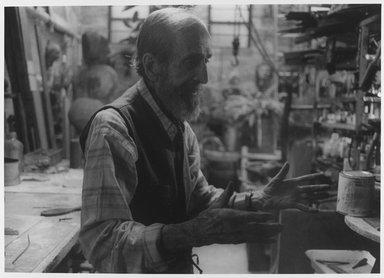 Lenore Seroka (American, born 1935). <em>Jose de Creeft</em>, 1978. Gelatin silver photograph, sheet: 11 x 14 in. (27.8 x 35.5 cm). Brooklyn Museum, Gift of the artist, 85.63.7. © artist or artist's estate (Photo: Brooklyn Museum, 85.63.7_PS9.jpg)