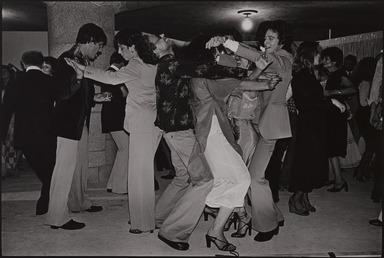 Robert Sefcik (American, born 1948). <em>New York City (Party after fashion show at 79th Street Rotunda, Riverside Park)</em>, 1976. Gelatin silver photograph, Sheet: 11 x 14 in. (27.9 x 35.6 cm). Brooklyn Museum, Gift of Cynthia K. Yanowitz, 85.94.4. © artist or artist's estate (Photo: , 85.94.4_PS9.jpg)
