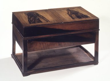 <em>Inkstone Table (Yun Sang)</em>, 19th century. Persimmon wood and pine, Overall: 8 5/8 x 8 5/8 x 14 1/2 in. (21.9 x 21.9 x 36.8 cm). Brooklyn Museum, Gift of Mr. and Mrs. John Menke, 86.136a-f. Creative Commons-BY (Photo: Brooklyn Museum, 86.136a-f.jpg)