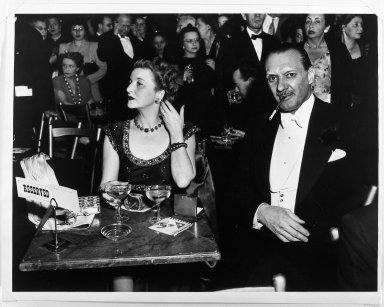 Arthur Leipzig (American, 1918-2014). <em>Opening Night at the Opera</em>, ca. 1940s. Gelatin silver photograph, sheet: 11 × 13 7/8 in. (27.9 × 35.2 cm). Brooklyn Museum, Gift of the artist, 86.152.10. © artist or artist's estate (Photo: Brooklyn Museum, 86.152.10_bw.jpg)
