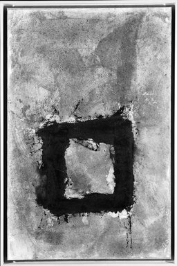Cleve Gray (American, 1918-2004). <em>Roman Walls</em>, 1980. Sand, sawdust and oil paint on paper mounted on stretched fabric, 53 1/2 x 43 in. (135.9 x 109.2 cm). Brooklyn Museum, Gift of Mr. and Mrs. Robert T. Buck, 86.195. © artist or artist's estate (Photo: Brooklyn Museum, 86.195_bw.jpg)