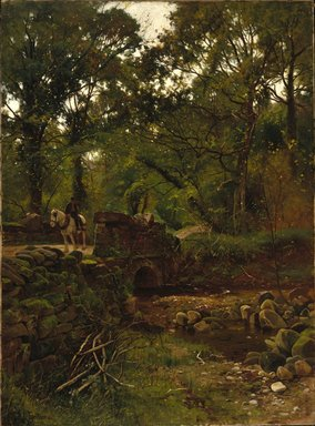 Ernest Parton (American, 1845-1933). <em>An Old Road in Wales</em>, ca. 1888. Oil on canvas, 42 1/8 x 31 1/16 in. (107 x 78.9 cm). Brooklyn Museum, Gift of Isabella S. Kurtz in memory of Charles M. Kurtz, 86.197.3 (Photo: Brooklyn Museum, 86.197.3_SL1.jpg)