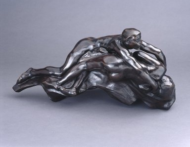 Auguste Rodin (French, 1840-1917). <em>Paolo and Francesca</em>, before 1886, cast 1981. Bronze, 11 3/4 x 23 1/4 x 10 5/8 in.  (29.8 x 59.1 x 27.0 cm). Brooklyn Museum, Gift of the Iris and B. Gerald Cantor Foundation, 86.1. Creative Commons-BY (Photo: Brooklyn Museum, 86.1_SL1.jpg)