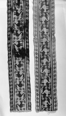 Chancay. <em>Large Fragment of a Belt</em>, 1000-1532. Cotton, 4 5/16 x 98 7/16 in. (11 x 250 cm). Brooklyn Museum, Gift of the Ernest Erickson Foundation, Inc., 86.224.101. Creative Commons-BY (Photo: Brooklyn Museum, 86.224.101_bw_acetate.jpg)