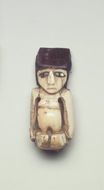 Nazca. <em>Figurine</em>, 300-700. Ivory, resin, 1 1/4 x 7/16 x 1/2 in. (3.2 x 1.1 x 1.3 cm). Brooklyn Museum, Gift of the Ernest Erickson Foundation, Inc., 86.224.107. Creative Commons-BY (Photo: Brooklyn Museum, 86.224.107.jpg)