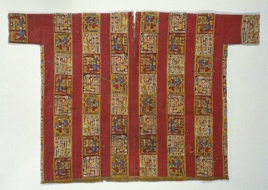 Wari. <em>Tunic</em>, 600-1000. Camelid fiber, cotton, 38 3/16 x 57 1/16 in. (97 x 144.9 cm). Brooklyn Museum, Gift of the Ernest Erickson Foundation, Inc., 86.224.109. Creative Commons-BY (Photo: Brooklyn Museum, 86.224.109_SL1.jpg)