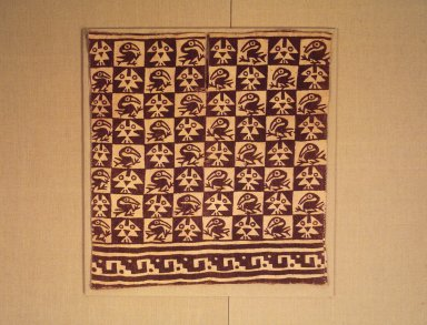 Chimú. <em>Tunic</em>, 1000-1470. Cotton, pigment, 25 3/16 x 23 7/16 in. (64 x 59.5 cm). Brooklyn Museum, Gift of the Ernest Erickson Foundation, Inc., 86.224.121. Creative Commons-BY (Photo: Brooklyn Museum, 86.224.121.jpg)