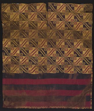 Inca. <em>Tunic</em>, 1400-1532. Textile. Camelid fiber, 33 7/8 x 29 1/8 in. (86 x 74 cm). Brooklyn Museum, Gift of the Ernest Erickson Foundation, Inc., 86.224.133. Creative Commons-BY (Photo: , 86.224.133_PS9.jpg)