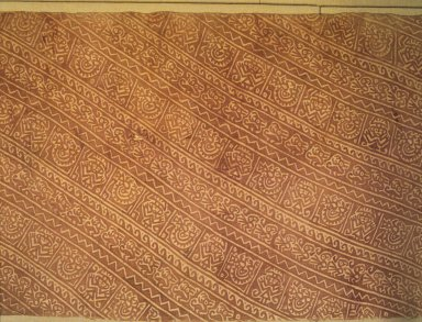 <em>Textile</em>, 1000-1470. Cotton, pigment, 188 1/4 x 25 1/2 in. (478.2 x 64.8 cm). Brooklyn Museum, Gift of the Ernest Erickson Foundation, Inc., 86.224.59. Creative Commons-BY (Photo: Brooklyn Museum, 86.224.59.jpg)