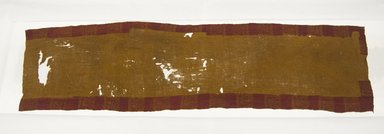 Paracas. <em>Head Cloth</em>, 100 B.C.E.-100 C.E. Cotton, camelid fiber, 58 1/4 x 15 3/8in. (148 x 39.1cm). Brooklyn Museum, Gift of the Ernest Erickson Foundation, Inc., 86.224.75. Creative Commons-BY (Photo: Brooklyn Museum, 86.224.75_front_PS5.jpg)