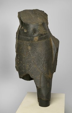 <em>Torso of Ziharpto</em>, 380-342 B.C.E. Basalt, 20 x 10 x 8 in. (50.8 x 25.4 x 20.3 cm). Brooklyn Museum, Gift of the Ernest Erickson Foundation, Inc., 86.226.24. Creative Commons-BY (Photo: Brooklyn Museum, 86.226.24_front_PS2.jpg)