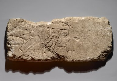 <em>Woman with Formal Bouquet</em>, ca. 1353-1336 B.C.E. Limestone, 9 1/8 x 21 1/16 x 1 9/16 in. (23.1 x 53.5 x 4 cm). Brooklyn Museum, Gift of the Ernest Erickson Foundation, Inc., 86.226.33. Creative Commons-BY (Photo: Brooklyn Museum, 86.226.33_PS2.jpg)
