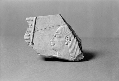 Egyptian. <em>Fragment from Relief of a Nobleman</em>, ca. 760-656 B.C.E. Limestone, 3 13/16 x 5 1/2 in. (9.7 x 14 cm). Brooklyn Museum, Gift of the Ernest Erickson Foundation, Inc., 86.226.5. Creative Commons-BY (Photo: Brooklyn Museum, 86.226.5_NegA_SL1.jpg)